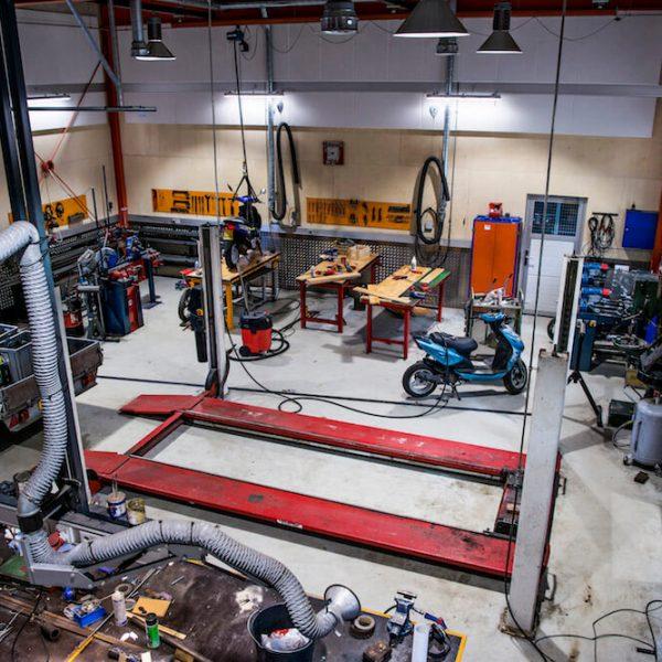 Jönsson har i hovedentreprise opført et motorværksted til Gladsaxe Kommune